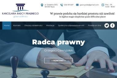 Kancelaria Radcy Prawnego - radca prawny Grzegorz Gawryjołek - Kancelaria prawna Nysa