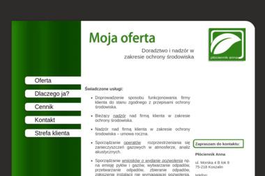 Płóciennik Anna - Ochrona Środowiska - Ochrona środowiska Koszalin