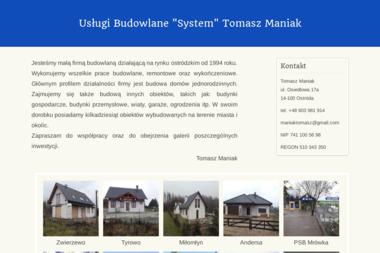 "Usługi Budowlane ""System"" - Remont Balkonu Ostróda"