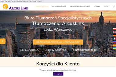 Biuro tłumaczeń ArcusLink - Tłumacze Łódź