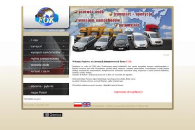 """F.H.U. """"FOX"""" - Wypożyczalnia samochodów Sandomierz"""