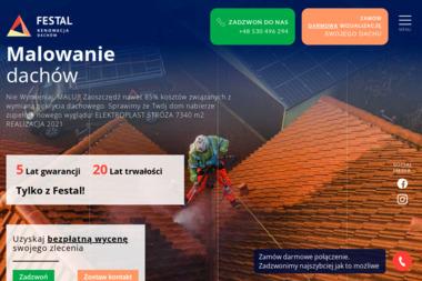 Festal - malowanie dachów - Pokrycia dachowe Trzemeśnia