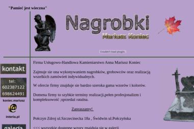 Firma Usługowo-Handlowa Kamieniarstwo Mariusz Koniec - Nagrobki z Granitu Świdwin