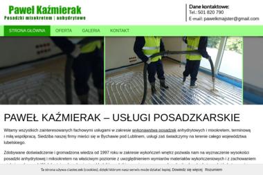 Usługi posadzkarskie Paweł Kaźmierak - Posadzki anhydrytowe Bychawa