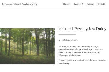 Prywatny Gabinet Psychiatryczny lek. med. Przemys艂aw Dulny - Psycholog Ostrzeszów