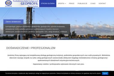 Przedsiębiorstwo Badań Geologicznych GEOPROFIL - Przekroje Geologiczne Kraków