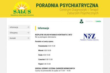 """NZOZ Centrum Diagnostyki i Terapii Zaburzeń Psychicznych """"SALUS"""" sp z o.o. - Psycholog Łomża"""