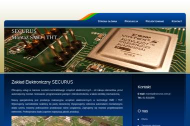 Zakład Elektroniczny SECURUS - Montaż elektroniki Poznań
