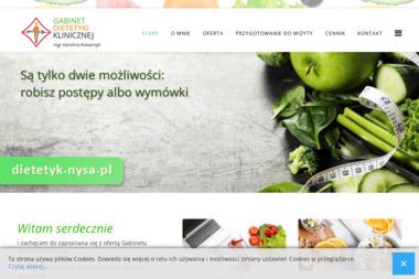 Gabinet Dietetyki Klinicznej mgr Karolina Kowarzyk - Dietetyk Nysa