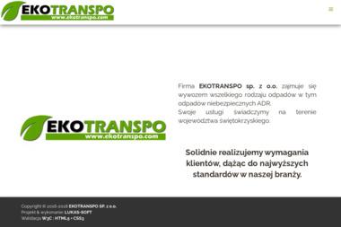 EKOTRANSPO - Wywóz Gruzu Kielce