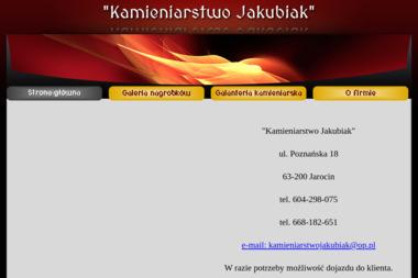 """""""Kamieniarstwo Jakubiak"""" - Płyta Nagrobna Jarocin"""