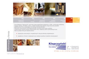 """Firma Metalowa """"Klepczynski"""" - Elementy Kute Łódź"""