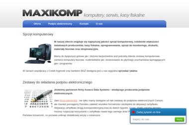 Maxikomp - Serwis komputerowy Płock