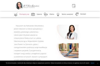 Ginekolog Dr Oleszkiewicz Aleksandra - Ginekolog Zamość