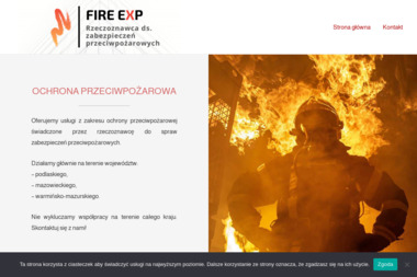 """""""FIRE EXP"""" Rzeczoznawca ds. zabezpieczeń przeciwpożarowych - Firma audytorska Łomża"""