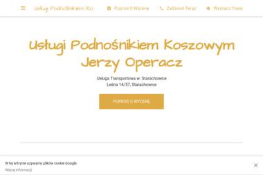 Usługi Podnośnikiem Koszowym Jerzy Operacz - Odśnieżanie dachów Starachowice