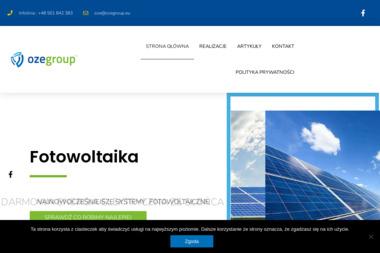 OZE GROUP SP. Z O.O. - Energia odnawialna Sokołów Podlaski