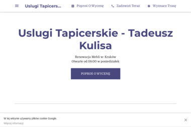 Uslugi Tapicerskie - Tadeusz Kulisa - Tapicer Kraków