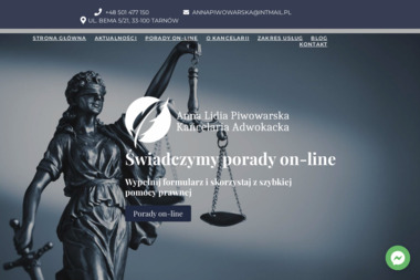 Kancelaria Adwokacka Anna Lidia Piwowarska - Adwokat Tarnów