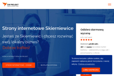 Strony internetowe Skierniewice - Grafik komputerowy Skierniewice