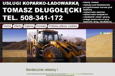 Usługi koparko-ładowarką Tomasz Długołęcki - Odśnieżanie Szczytno