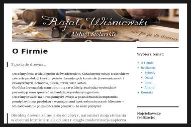 Usługi Stolarskie Rafał Wiśniewski - Schody drewniane Joniec