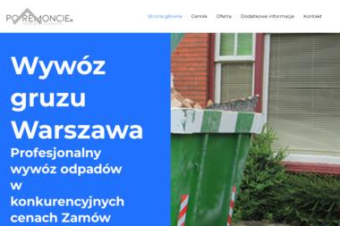 Wywóz gruzu Warszawa - Odbiór Gruzu Warszawa