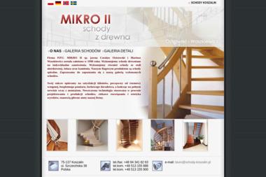 MIKRO II - Schody Kręcone Drewniane Koszalin
