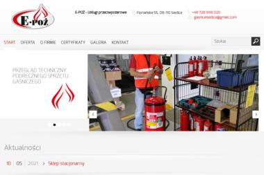 E-POŻ - Usługi przeciwpożarowe - Firma audytorska Siedlce
