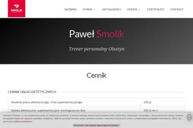 Paweł Smolik Trener personalny - Trener Osobisty Olsztyn