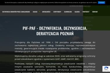 Pif-Paf Dezynfekcja, Dezynsekcja, Deratyzacja - Zwalczanie Pluskiew Poznań