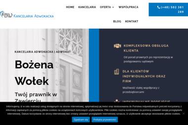 Kancelaria Adwokacka - adw. Bożena Wołek - Prawo gospodarcze Zawiercie