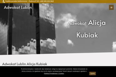 Adwokat Lublin prawnik Alicja Kubiak - Adwokat Lublin