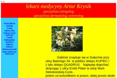 Specjalista alergolog lekarz medycyny Artur Krysik - Alergolog Sulęcin