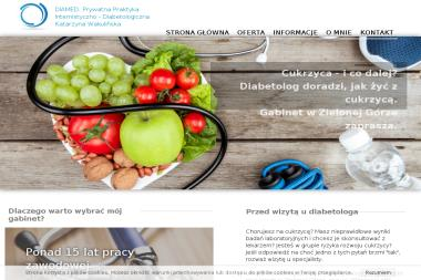 DIAMED. Prywatna Praktyka  Internistyczno - Diabetologiczna  Katarzyna Wakulińskav - Diabetolog Zielona Góra