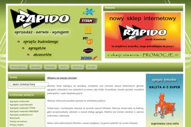 RAPIDO - Agregaty tynkarskie Inowrocław