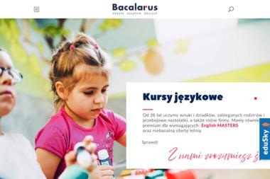 Bacalarus - Szkoła Języków Obcych - Szkoła językowa Zamość