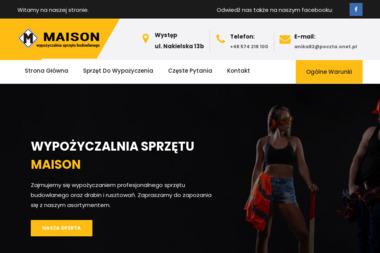 Wypożyczalnia sprzętu budowlanego Maison - Wypożyczalnia Rusztowań Nakło nad Notecią