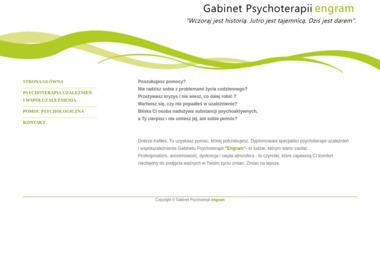 """Gabinet Psychoterpii """"Engram"""" - Terapia uzależnień Szczytno"""