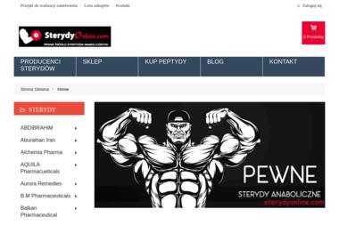 Sklep internetowy SterydyOnline.com - Projekty Sklepu Internetowego Zamość