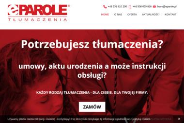 ePAROLE Tłumaczenia - Tłumaczenie Angielsko Polskie Gdańsk