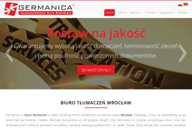 Germanica Leszek Chmura - Tłumaczenie Angielsko Polskie Wrocław