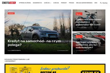 Portal Emoto.com.pl - Projektowanie Portali Internetowych Poznań