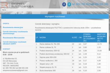 ekspres rusztowania - Wynajem Szalunków Warszawa