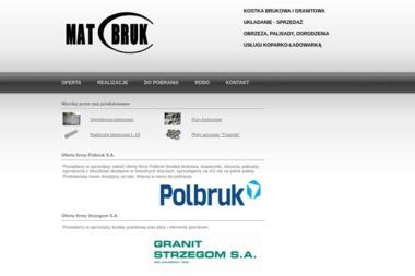MATBRUK - Sprzedaż Kostki Betonowej Pińczów